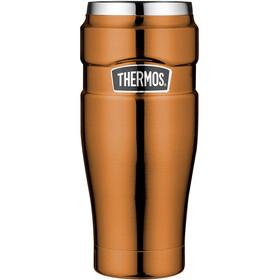 Thermos King Drinkfles 470ml oranje/zilver